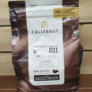Callebaut Dark Chocolate Chips (callets) 54.5% Min Cocoa - 2.5kg