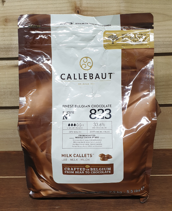Callebaut Milk Chocolate Chips (callets) 33.6% Min Cocoa - 2.5kg
