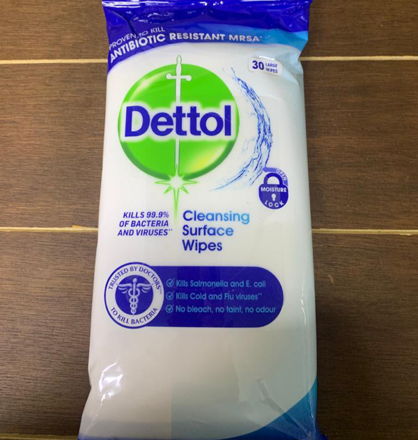 Dettol Anti-Bacterial Cleansing Surface Wipes x 30